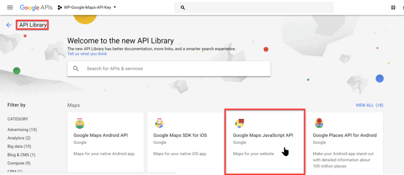 Creating a Google Maps API Key - HashThemes