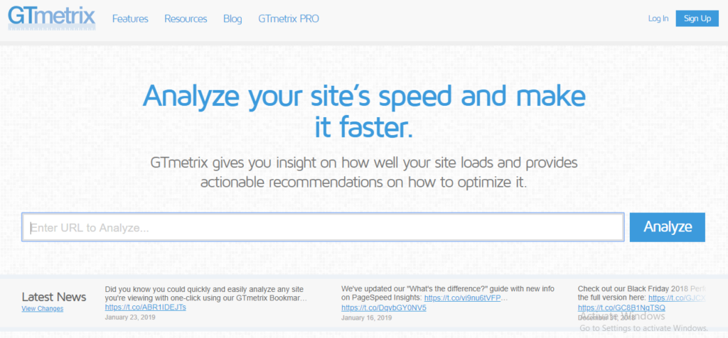 GTmetrix is another tool that provides a detailed performance report for your website instantly. The report includes PageSpeed score and YSlow score in ...