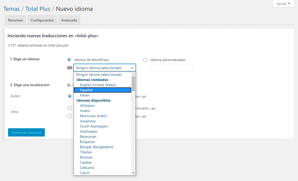 WordPress Manual Translation Plugin 4