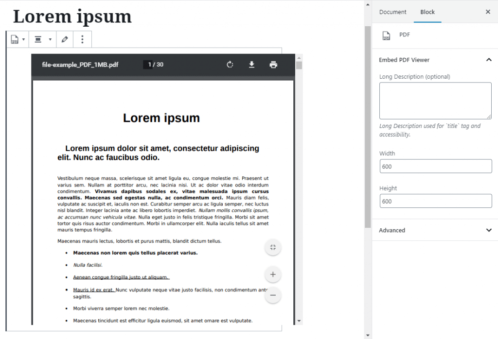 How to Embed pdf in WordPress 4